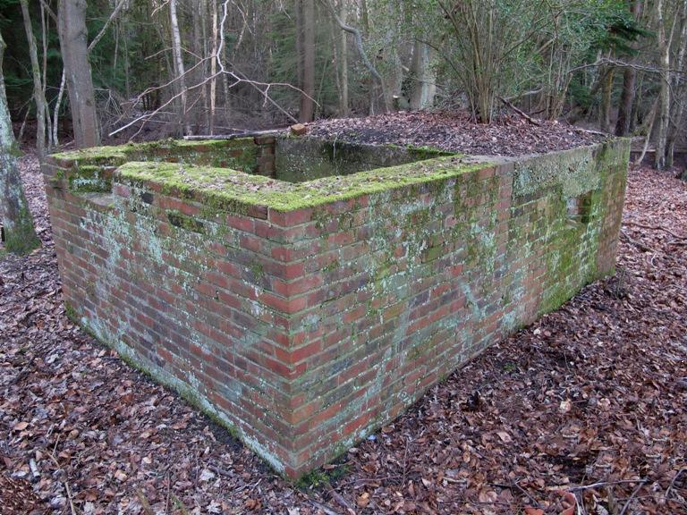 Brick shuttered FW3/23 part of Aldershot Ring Defence,Hampshire. Pic by Tim Denton
