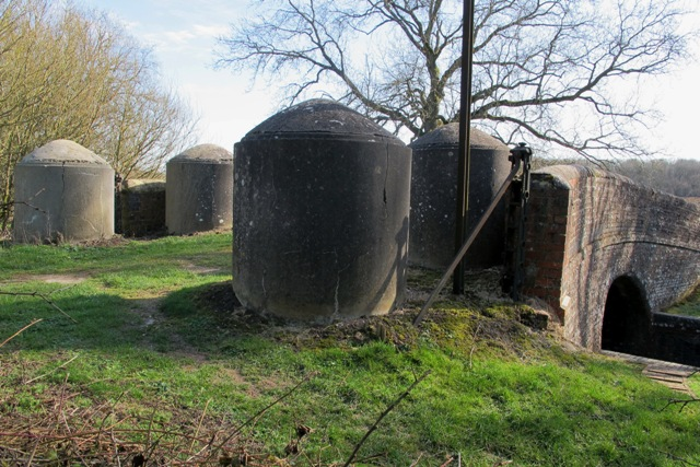 Concrete Pipe Cylinders on the Kennet & Avon Canal near Crofton in Wiltshire Ngr SU271632