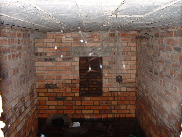 You Find Yourself Inside The Control Room/Office. (Note how wet the bricks are, showing just how deep the water was over the winter months)