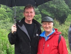 Graham G Matthews & Sir Tony Robinson filming 'Frontline Dorset -Walking Through History' for Channel 4 TV