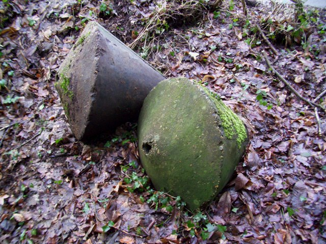 Two Concrete Buoys of a group of nine found on GHQ Line B in Surrey