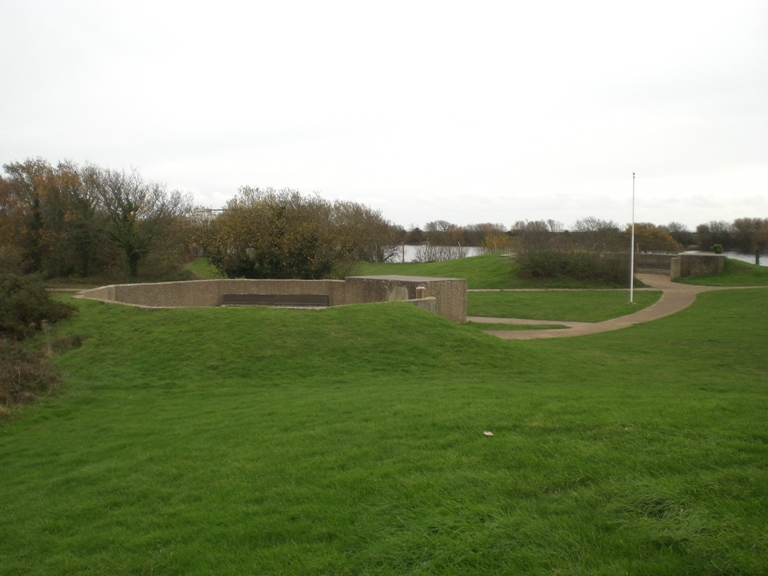 "(5) View of both 4.5"" Gun Emplacements."