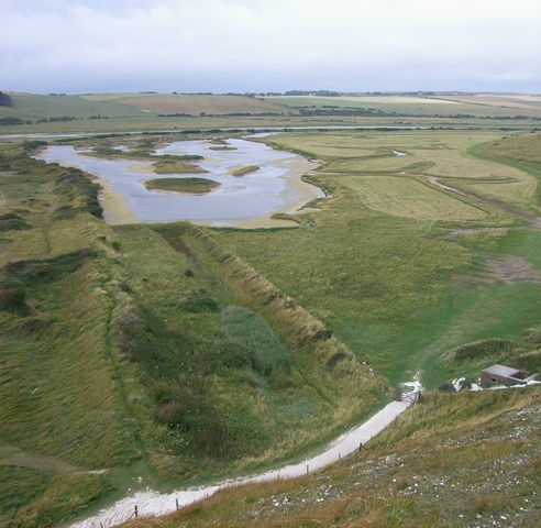 Surviving Anti-Tank ditch at Cuckmere Haven. Picture by Tim Denton 2008