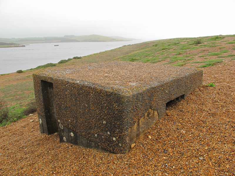 Type 26 beside the Anti-tank cubes Abbotsbury Dorset