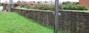 Love Lane Anti Tank Wall, Whitby.