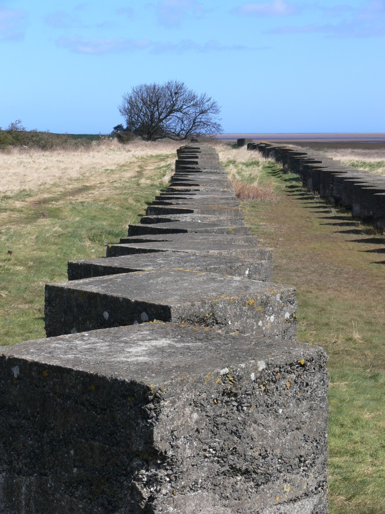 Holy Island Causeway North Anti Tank Blocks