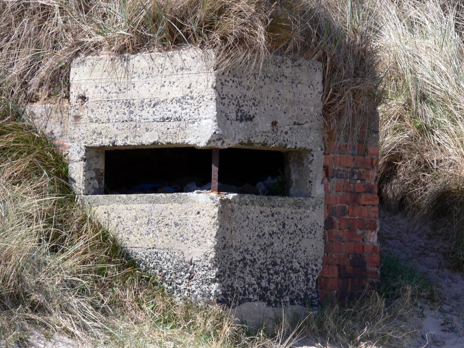 Pillbox (Variant) built into the dunes at Embleton Links.