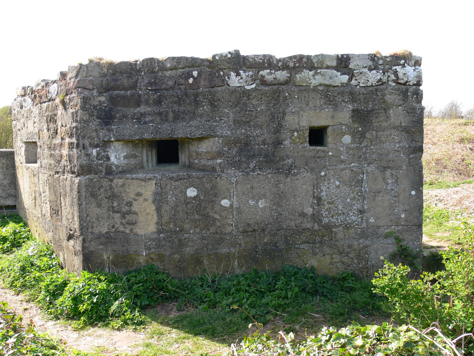 Old Battery, Alnmouth with WWII pillbox modifications.