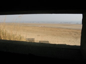 View through Loopholes, Auburn Sands Eared Pillbox