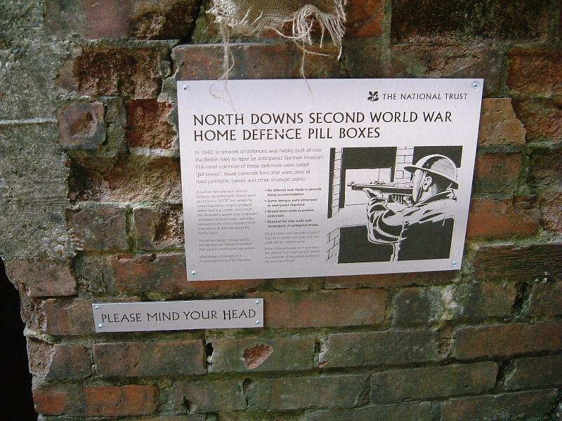 Historical Information board provided by the National Trust