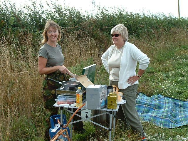Carol Matthews & Bryony Hellis with the PSG `Field Kitchen`!