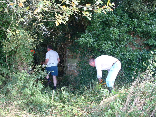 Richard Drew & Tim Denton busy opening out the access.