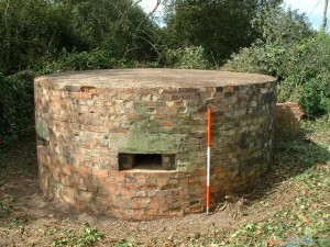 "The `DORSET ROUND TYPE` uncovered after 60 years. The Pillbox is 12`9"" in diameter with 2`8.5""thick walls."