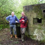 Tim Denton & Graham G Matthews with the 'rescued' East Stoke Type 22 Pillbox.