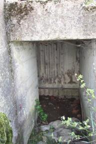 Protected Entrance of pillbox.