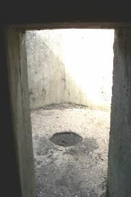 Access to open Anti-Aircraft section is through open door in corner of centre wall. Note Post Hole in centre.
