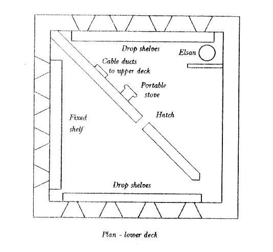 EXDO. Plan, Lower Deck