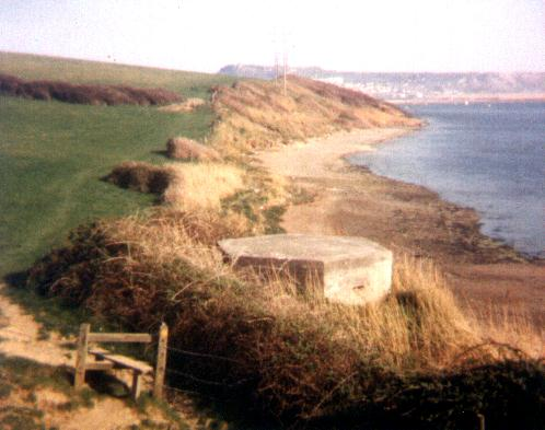 Type 22 Pillbox along The Fleet, Opposite Chesil Beach. SY 664-763 c1983