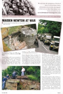Members of the PSG were featured in the Britain at War magazine for the Pillbox rescue.