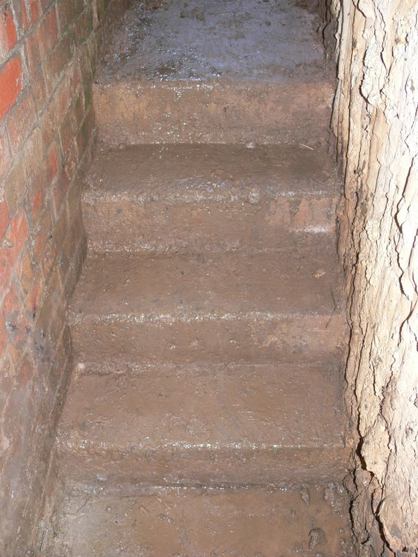 Emergency stairs fully cleared