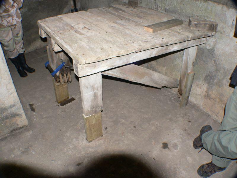 Machine Gun Table under repair / conservation.