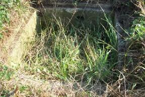 Water Tank or Sump for drainage of Sunken Entrance and water supply to Pillbox.