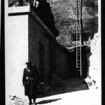 No 2 Entrance being guarded by a soldier in 1941. Copyright Cable & Wireless.