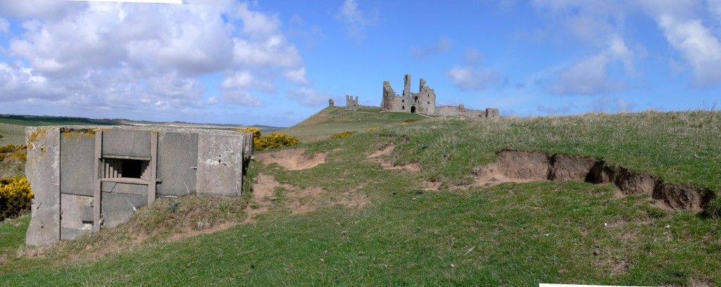 Prefab at Dunstanburgh Castle. Scheduled as part of the castle.