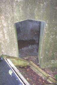 Access to the open Anti-Aircraft well in centre of structure is through an open door in the corner of the internal wall