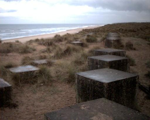 More Anti-Tank 'Dragons Teeth' at Winterton