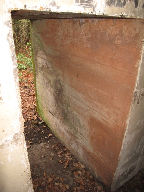 Rear entrance on a round Drum showing the massive six foot thick wall.