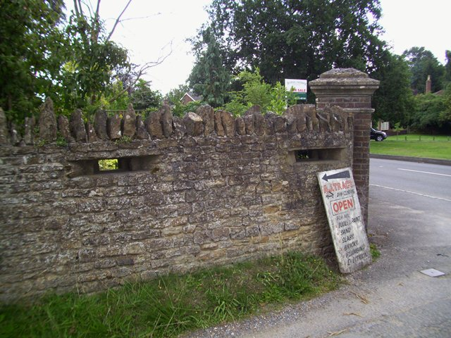 The Loopholed Wall, Elstead Village. Pic by Tim Denton