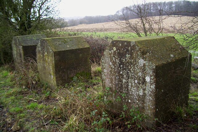 Anti-tank Coffins at Cripps Cross, East Sussex. Pic by Tim Denton 2009