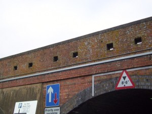 Basingstoke Railway Bridge Loopholed Wall.