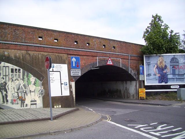 Basingstoke Railway Bridge Loopholed Wall