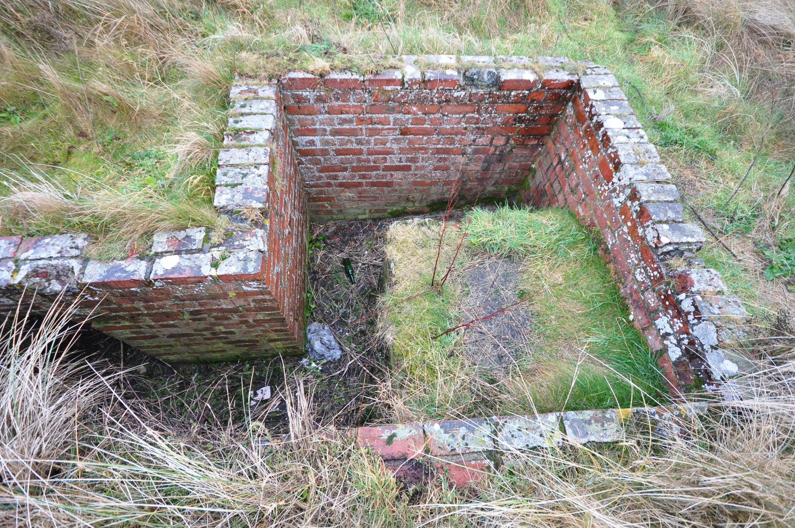 Open Machine Gun Position at Bamburgh, Northumberland.