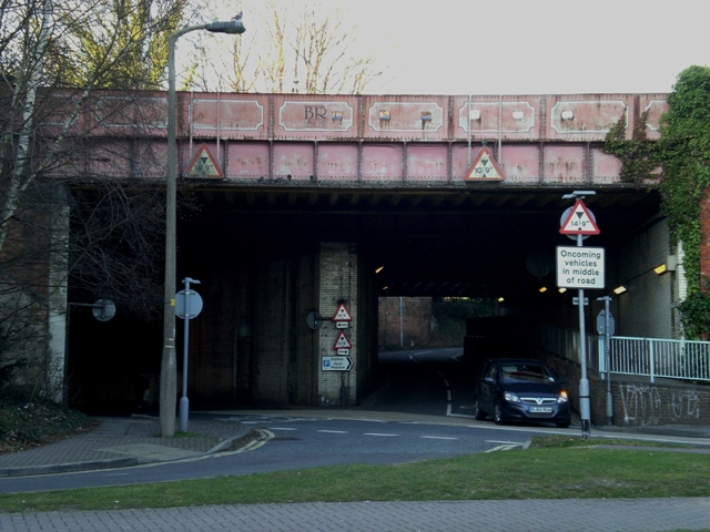 Loopholed Metal Rail Bridge Junction of Chapel Hill and Vyne Rd, Basingstoke Ngr SU636525 Pic by Tim Denton