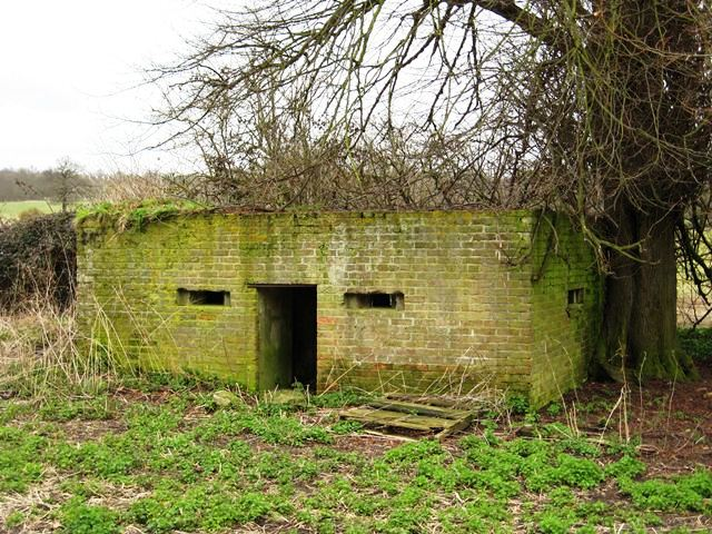 Shellproof Type 24 Pillbox close to the railway embankment.Picture by David Ottway.