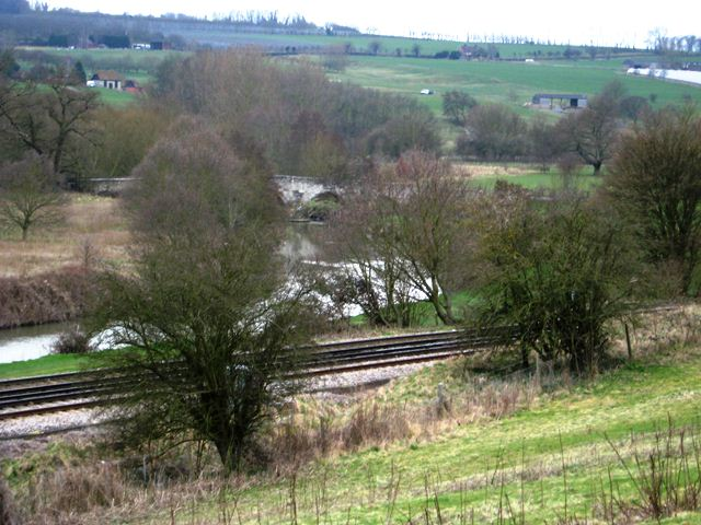 View of Railway and River Medway from Pillbox, Picture by David Ottway.