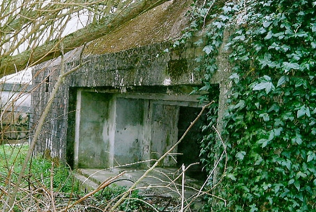 Front embrasure of Ufton Nervet Type 28A Pillbox, picture taken in 2003.