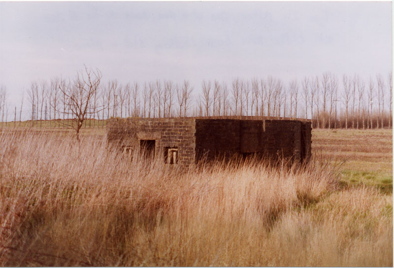 I've put this one in purely for your interest, as it is not related to the article. BOXCLIFFE. Type 24 Pillbox at Cliffe. One of a pair standing beside the B2000. Note the brick shuttering still in place.
