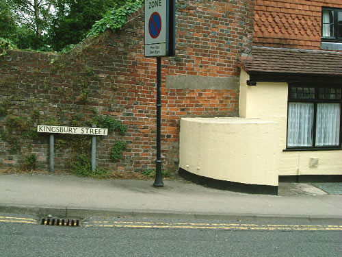 Kingsbury Street Pillbox in the Wiltshire market town of Marlborough. Picture by Tim Denton 2003