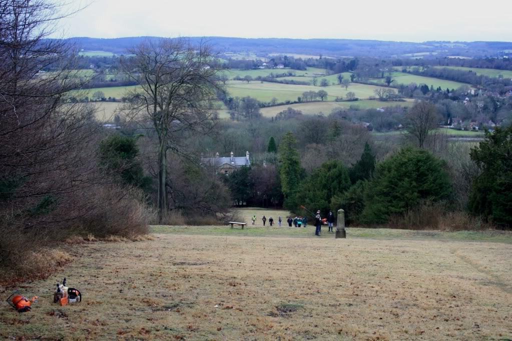 View looking over Netley House as volunteers arrive.