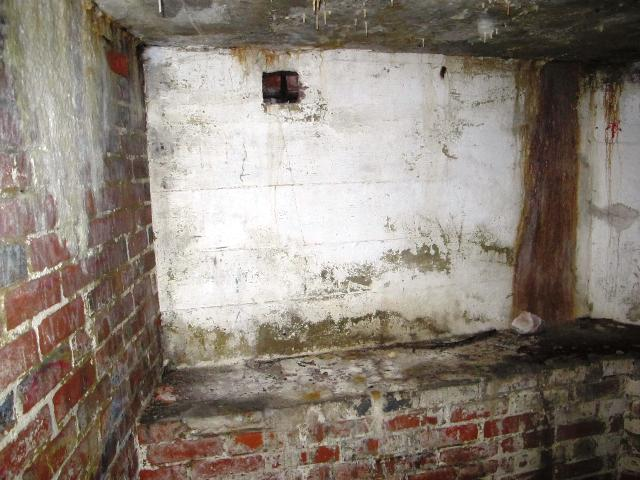 Blank east facing wall with smoke vent