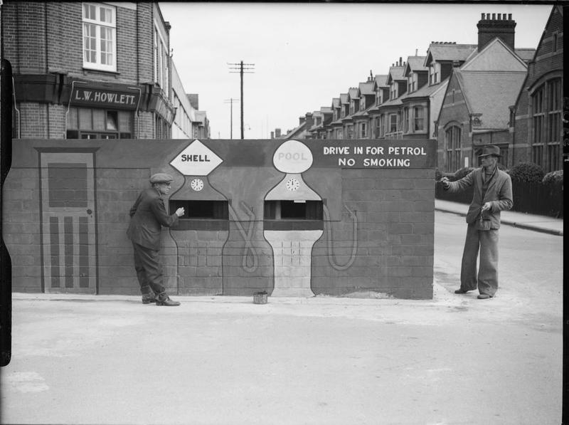 Pillbox camouflaged as a petrol station in Felixstowe, 24 August 1940. THE BRITISH ARMY IN THE UNITED KINGDOM 1939-45. © IWM (H 3307) IWM Non Commercial Licence