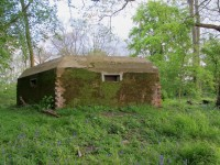 A fine example of a shell proof Type 22 Pillbox at Sandy Hill, Winchfield, Hampshire. Pic by Tim Denton May 2014