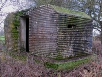 A few of these thin rear wall corrugated shuttered shellproof type 22 pillboxes can be found along the River Thames in Oxfordshire. Picture by Tim Denton.