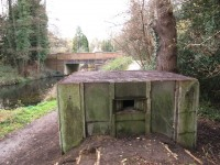 This Prefabricated Type 26 Pillbox was rescued in December 2015 by volunteers working with the Basingstoke Canal Authority. Pic Tim Denton