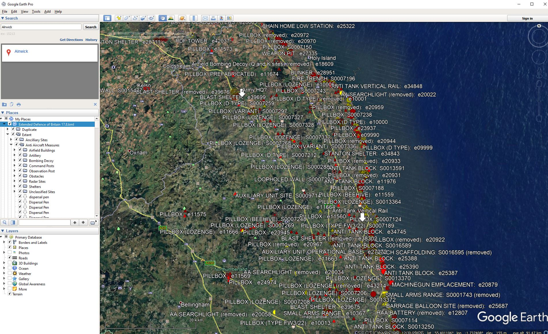 How to use the EDOB overlay for Google earth